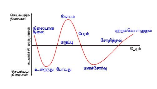 The Kübler-Ross Grief Cycle in Tamil (படம் உதவி : குசும்பன் )