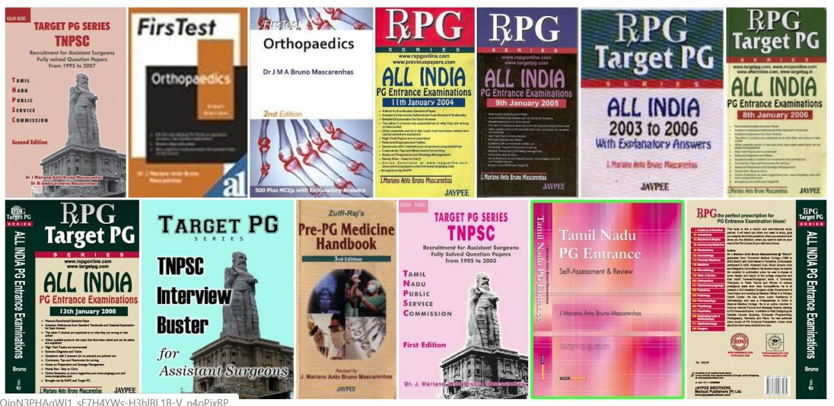 Few of the Books Written by Dr.J.Mariano Anto Bruno Mascarenhas