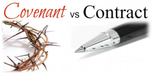 A contract is an agreement you can break while a covenant is a pledge or perpetual promise.  A contract is invalid when one of the involved parties violates it. On the other hand, a covenant remains intact even if one of the parties breach it.